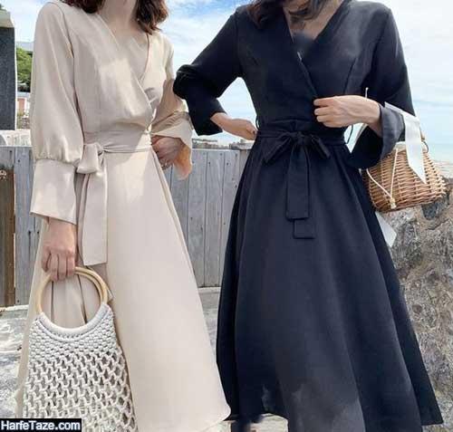 لباس و مانتو گلدار برای مدل لب ساحلی