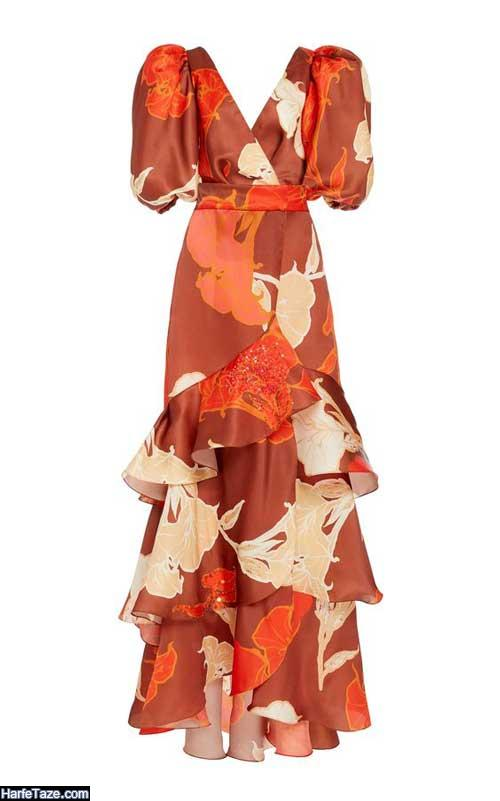لباس گل گلی ساحلی پلیسه ای مدل ۲۰۲۰