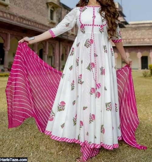 لباس ساحلی بلند بسیار شیک زنانه ترکمنی