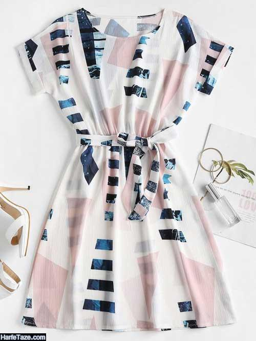 لباس راحتی راه راه زنانه جدید
