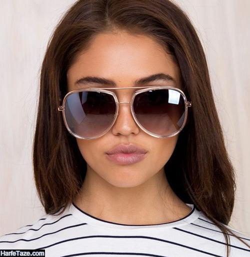 مدل عینک دخترانه گرد مشکی 1400