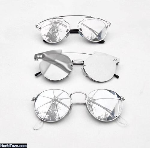 مدل عینک آینه ای خاکستری رنگ 99