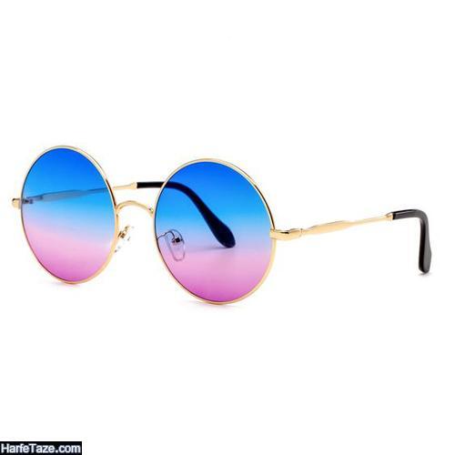 مدل عینک زنانه دو رنگ دخترانه
