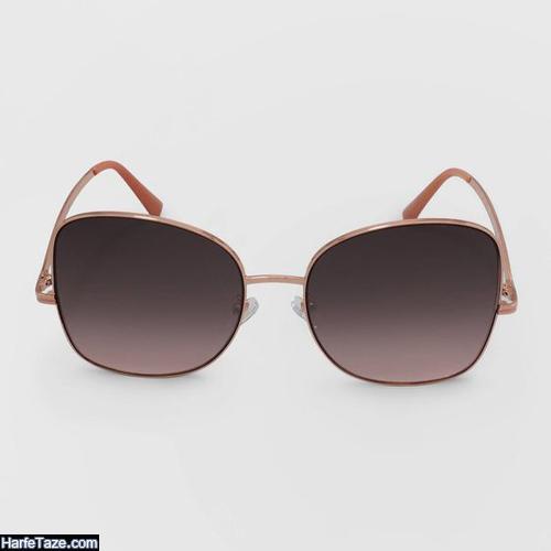 مدل عینک دخترانه گرد قهوه ای 1400
