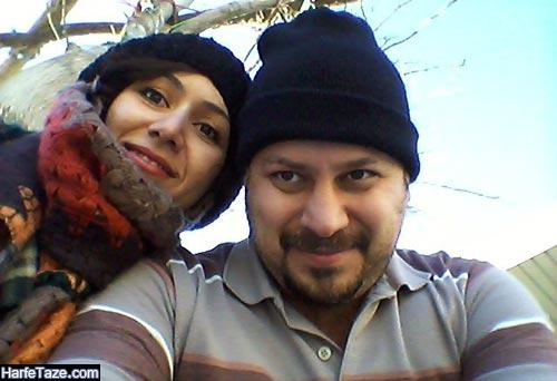 ابوذر ساعدی و همسرش فرانک کلانتری