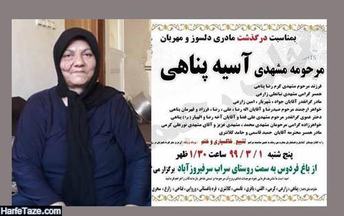 بیوگرافی و عکس های آسیه پناهی زن کپرنشین کرمانشاهی