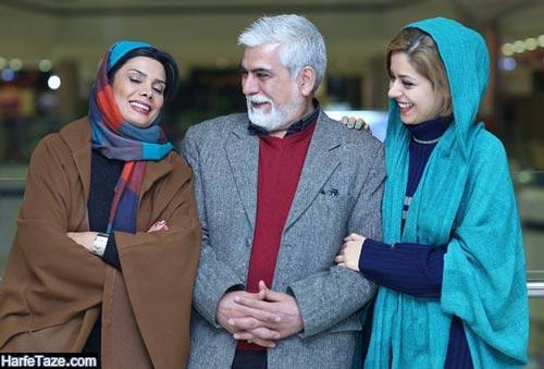 عاطفه رضوی و همسرش و دخترش