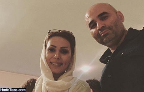 علیرضا مسعودی و همسرش