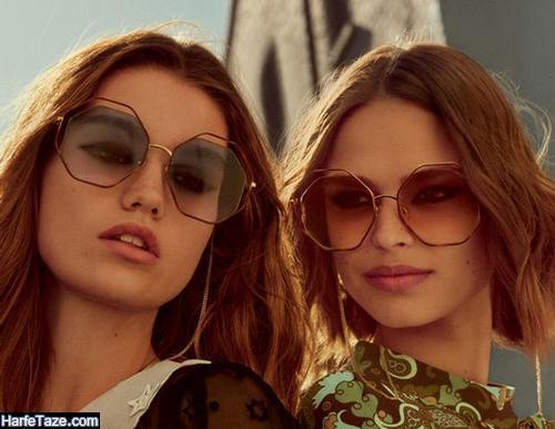 عینک دودی برای صورت لاغر و مثلثی