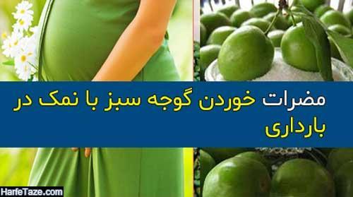 آیا خوردن گوجه سبز با نمک در بارداری مجاز است؟