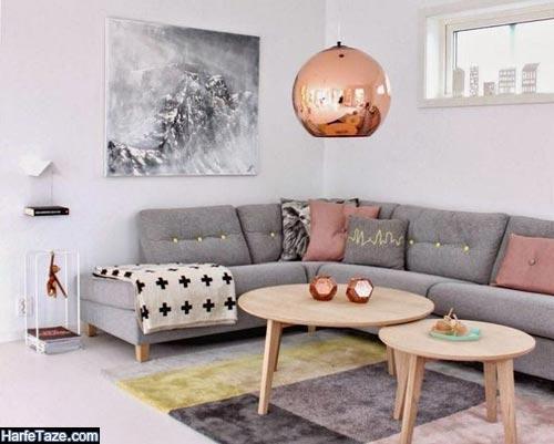 دکوراسیون خانه به رنگ طوسی صورتی 2020