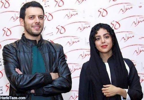 هنگامه حمیدزاده و همسرش