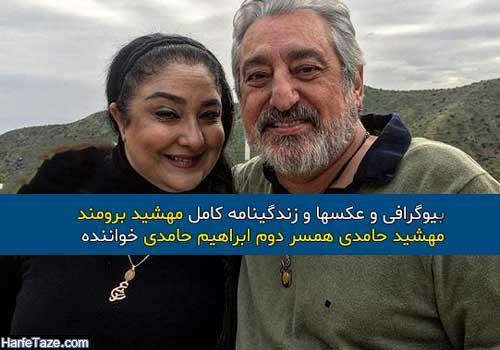 بیوگرافی و عکسهای جدید مهشید برومند (حامدی) همسر ابی