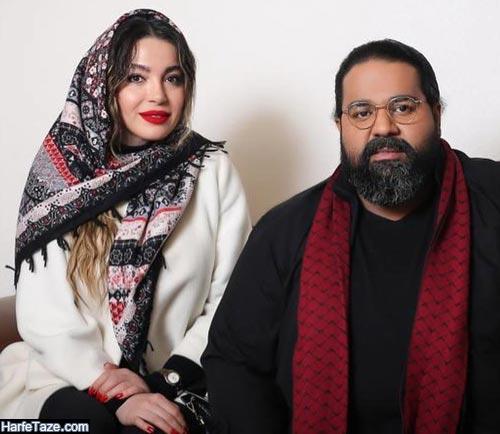 مهرناز افلاکیان و همسرش