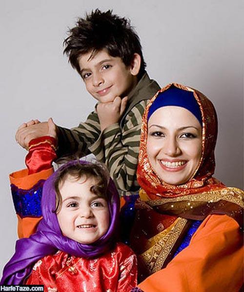ملیکا زراعی و فرزندانش