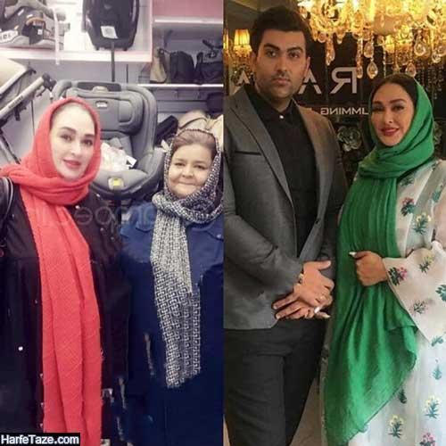 عکس الهام حمیدی با مادرش در حال خرید سیسمونی