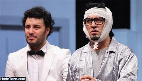 مجید صالحی و جواد عزتی در فیلم تئاتر شایعات