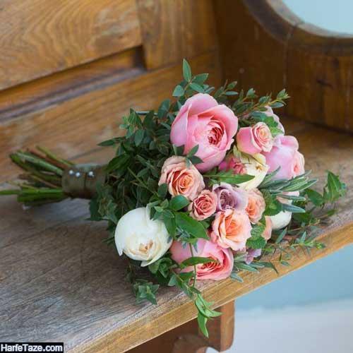 عکس تزیین گلهای رز برای عقد و نامزدی شیک جدید