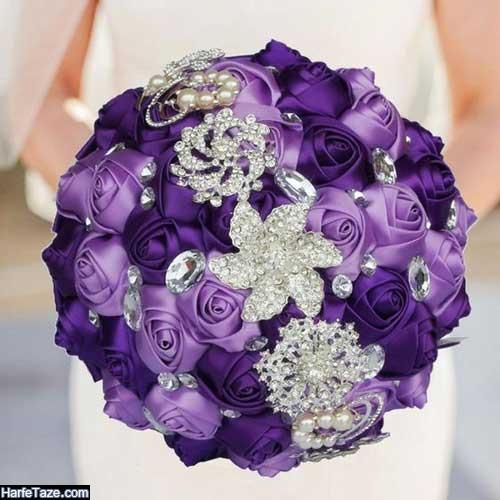مدلهای جدید دسته گل عروس شیشه ای