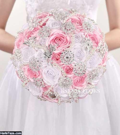 دیزاین دسته گل عروس جدید شیک