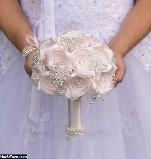 مدلهای جدید دسته گل عروس شیک با گل های ترکیبی