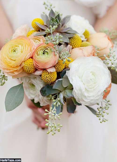 مدل دسته گل عروس اروپایی برای ساده پسندها
