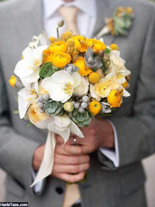 دسته گل خاص عروس جدید و زیبا