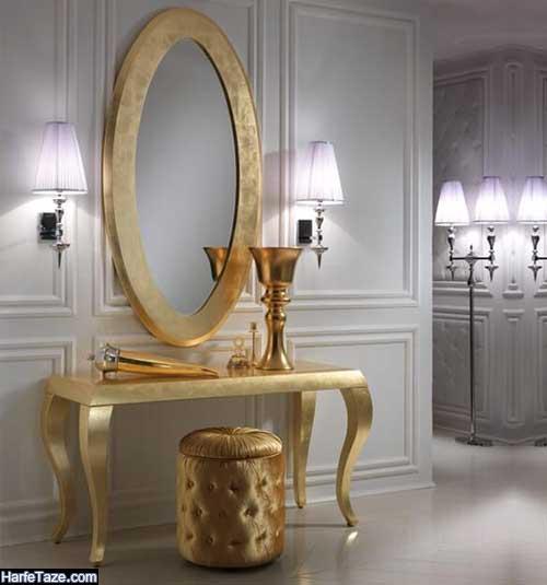 جدیدترین مدل آینه شمعدان و کنسول عروس