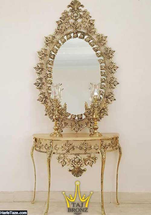 جدیدترین مدل آینه شمعدان و کنسول عروس سنتی