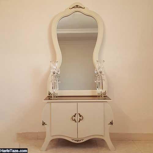 جدیدترین مدل آینه شمعدان و کنسول عروس با طراحی زیبا