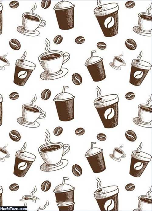 پس زمینه فول اچ دی با عکس قهوه و دانه های قهوه