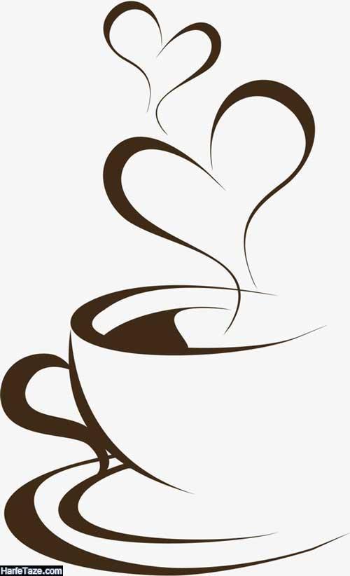 تصاویر گرافیکی دانه های قهوه برای بکگراند با زمینه روشن