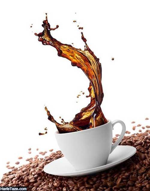تصاویر گرافیکی دانه های قهوه برای بکگراند