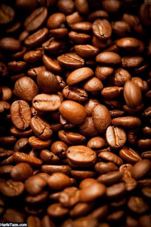 پس زمینه دانه های قهوه با کیفیت hd و 4k با طراحی زیبای فانتزی