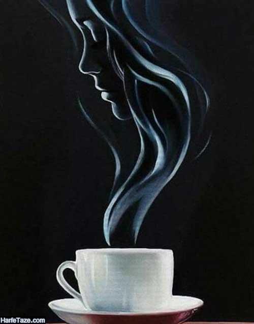پس زمینه دختر با ماگ قهوه برای موبایل
