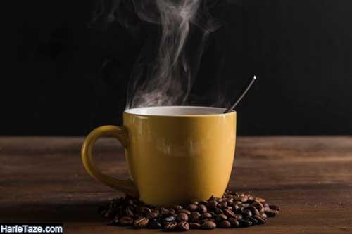 بکگراند موبایل با دانه های قهوه