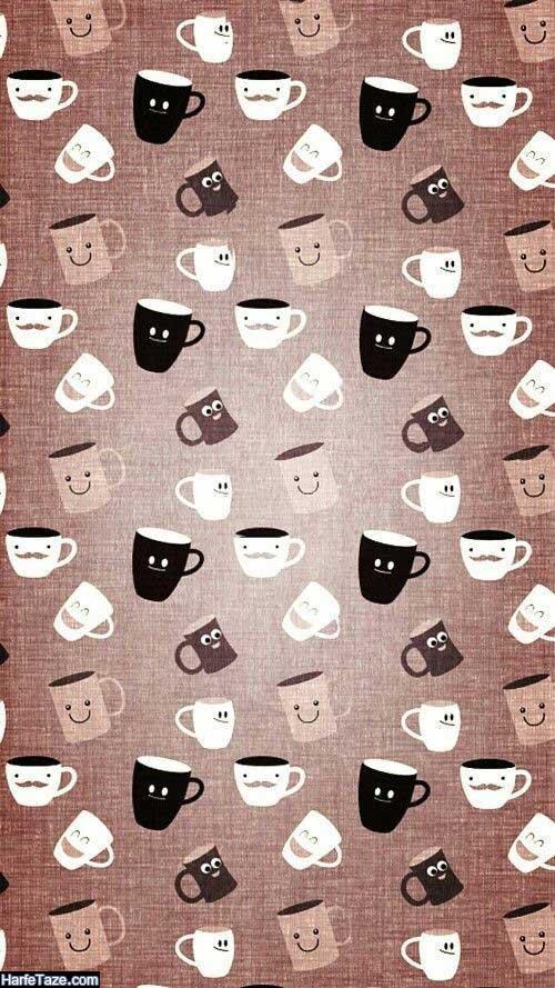 پس زمینه فول اچ دی با عکس قهوه و ماگ