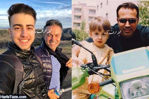 عکس های جدید دانا حکیمی و پدرش