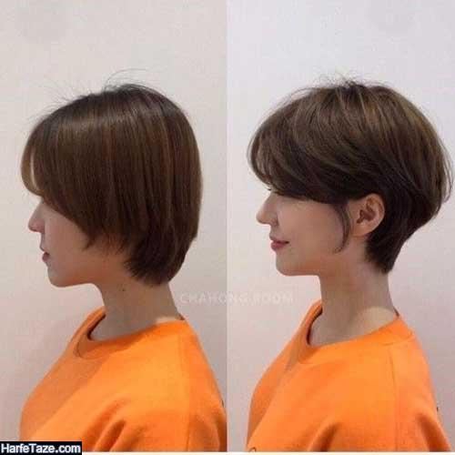 عکس مدلهای موی کوتاه دخترانه برای صورت بیضی