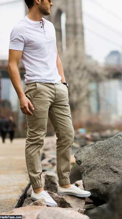 شلوار مجلسی گت دار شش جیب کتان برای کوهنوردی