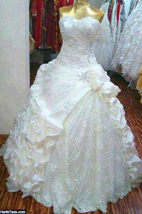 مدل لباس عروس های جدید ایرانی پرچین