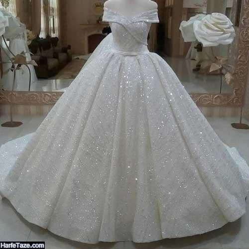 جدیدترین مدل های لباس عروس شاین و شنی انواع طرح جدید 99-2020