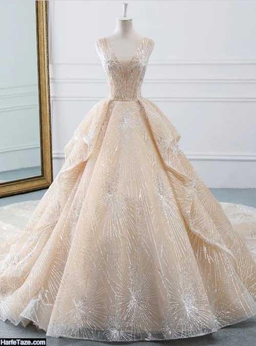 مدل لباسهای عروس شاین رنگی