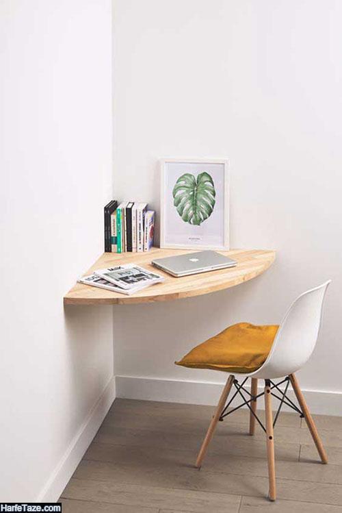 مدلهای میز کامپیوتر دیواری جدید سه گوش