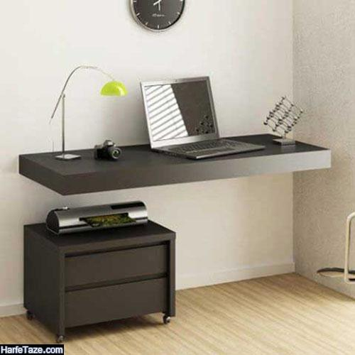 جدیدترین دیزاین میز کامپیوتر دیواری برای خانه های کوچک