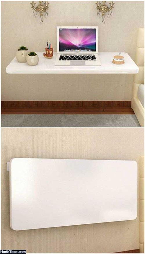 میز کامپیوتر دیواری تاشو