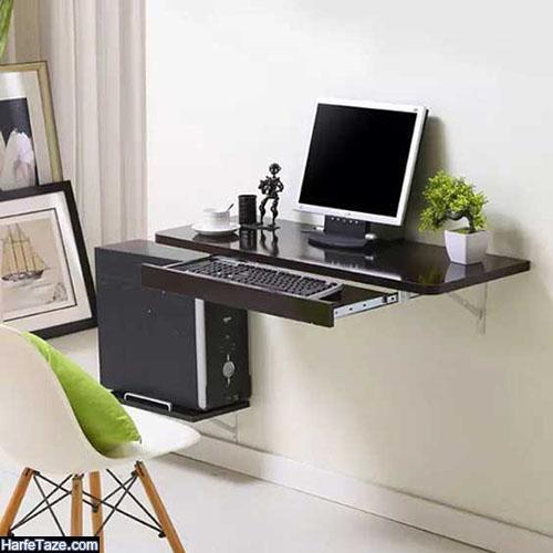 میز لپ تاپ ام دی اف برای نصب در دیوار