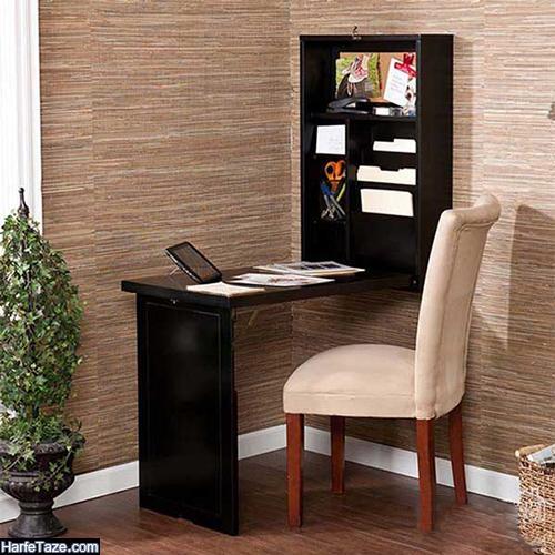 میز کامپیوتر لاکچری چوبی تاشو