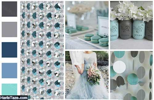 تم عروسی در تابستان با رنگ آبی