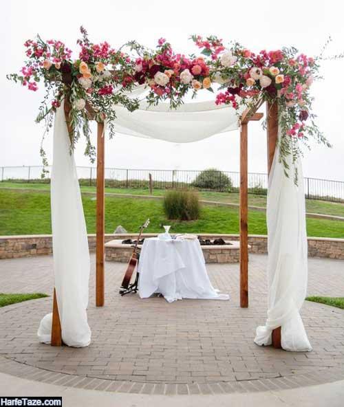 جدیدترین مدل های تزئینات مراسم ازدواج در تابستان
